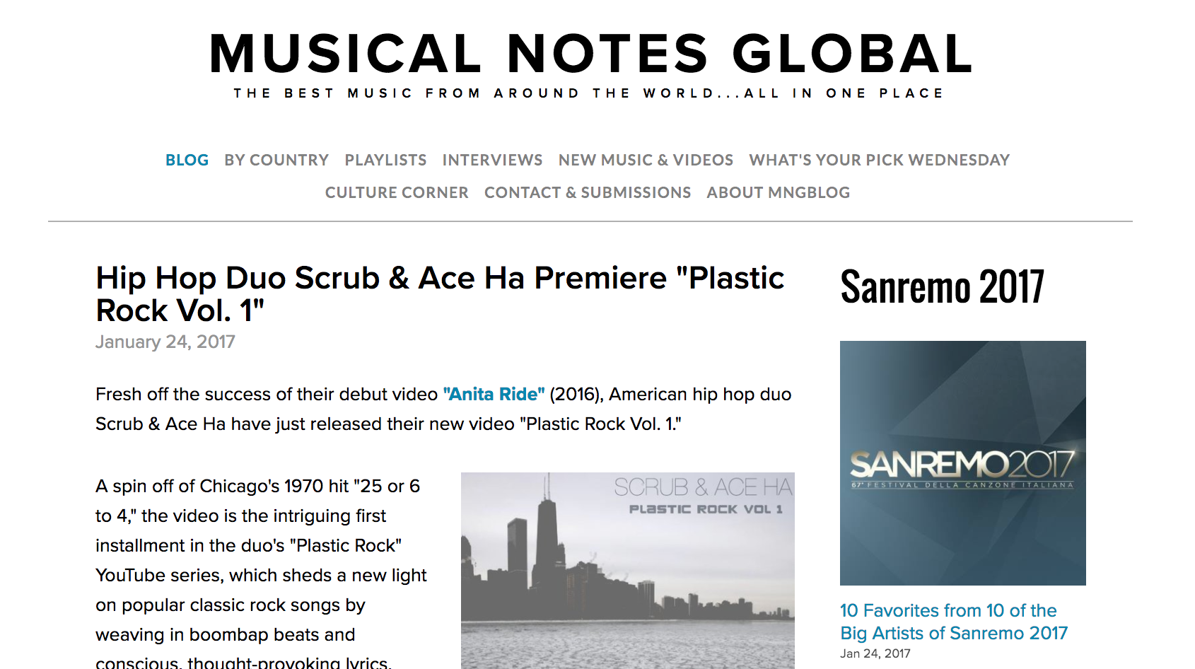 """Musical Notes Global Covers """"Plastic Rock Vol  I"""" by Scrub and Ace"""