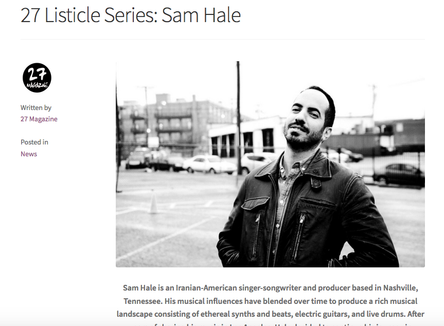 Sam Hale 27 Magazine