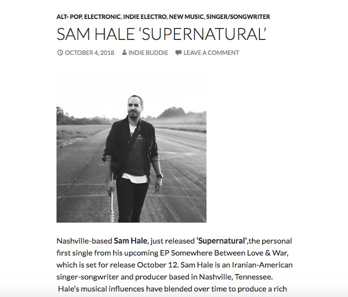 Sam Hale Supernatural Indie Buddie