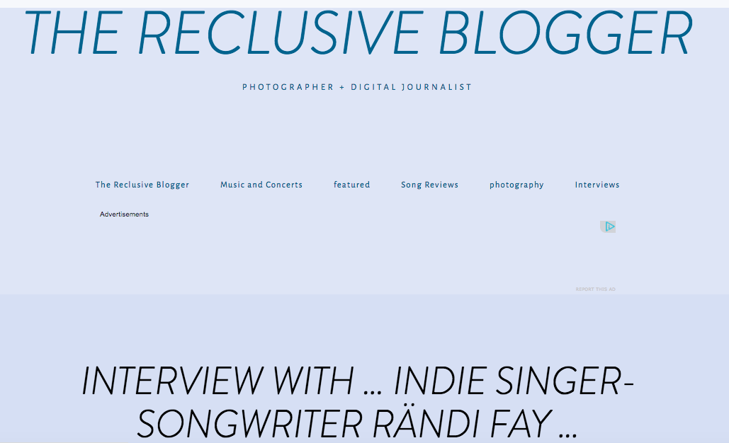 Rändi Fay The Reclusive Blogger Interview Joy Whispered