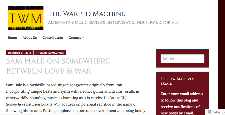 Sam Hale The Warped Machine interview